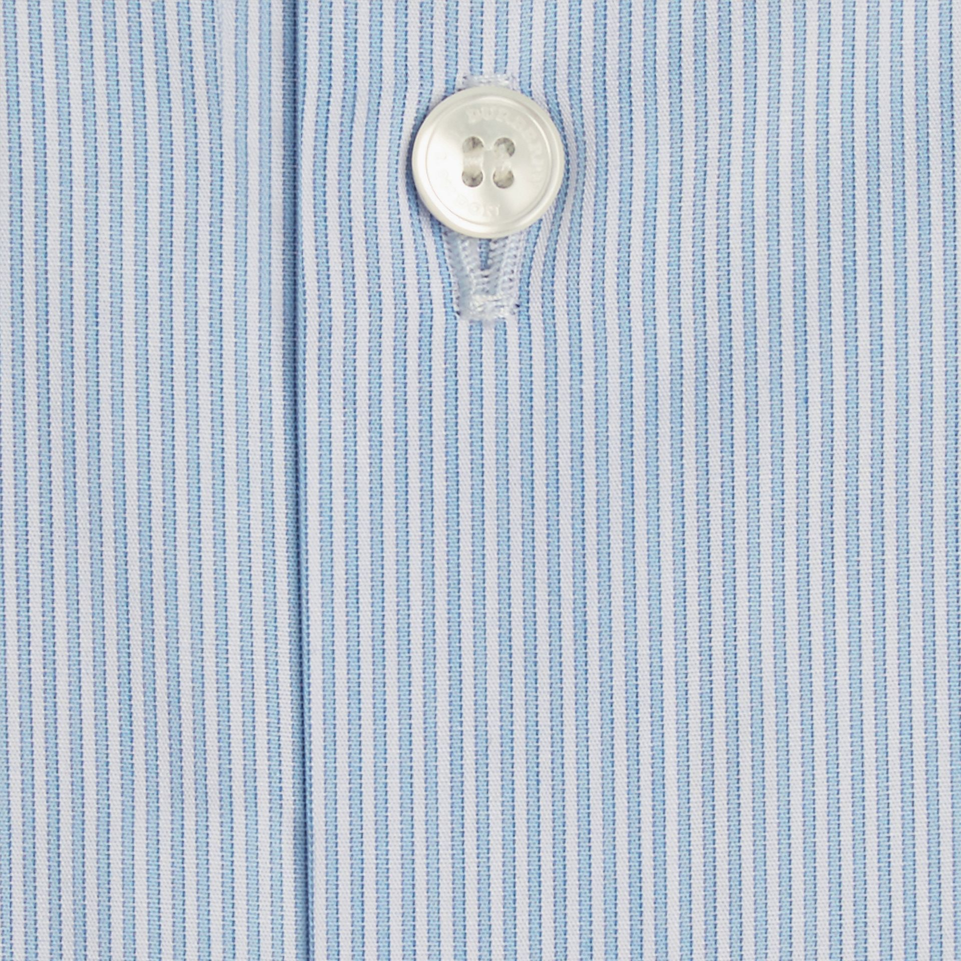 Slim Fit Striped Cotton Poplin Shirt City Blue - gallery image 2