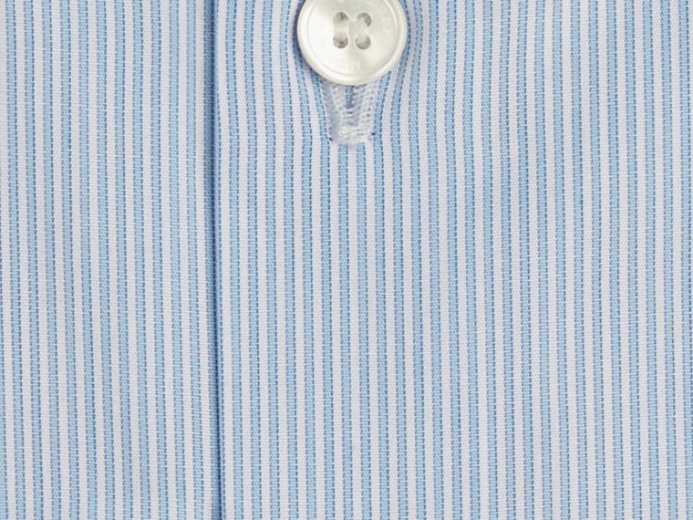 City blue Slim Fit Striped Cotton Poplin Shirt City Blue - cell image 1