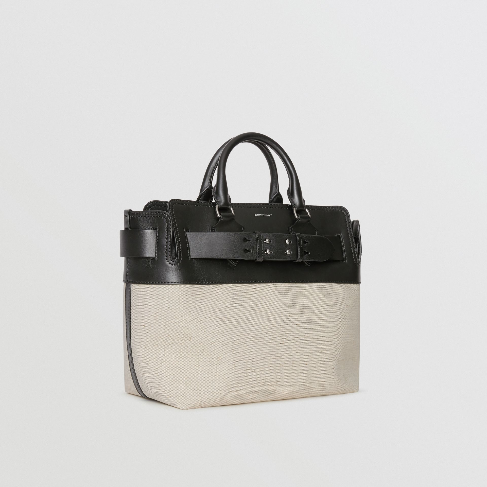 The Medium Canvas and Leather Belt Bag in Black/stone - Women | Burberry - gallery image 7