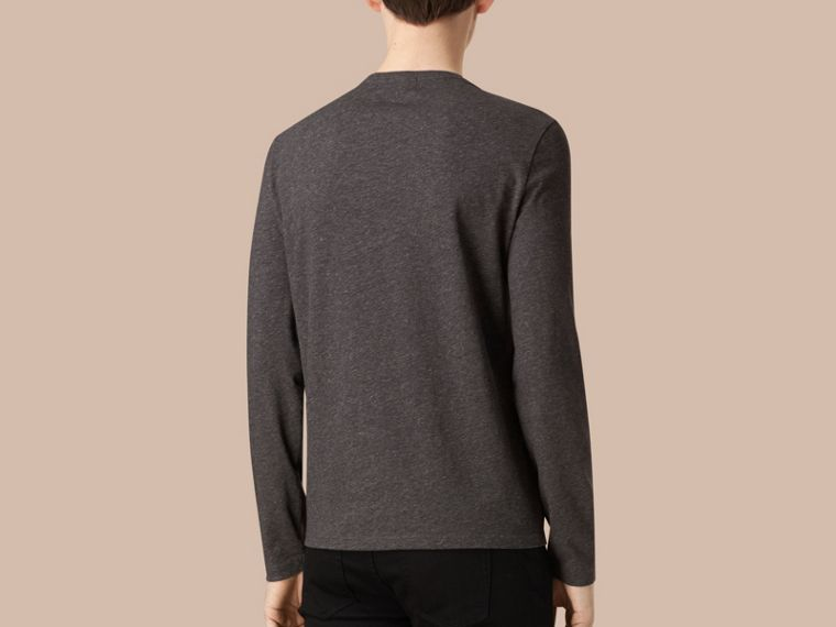 Dark grey melange Liquid-soft Cotton Top Dark Grey Melange - cell image 1