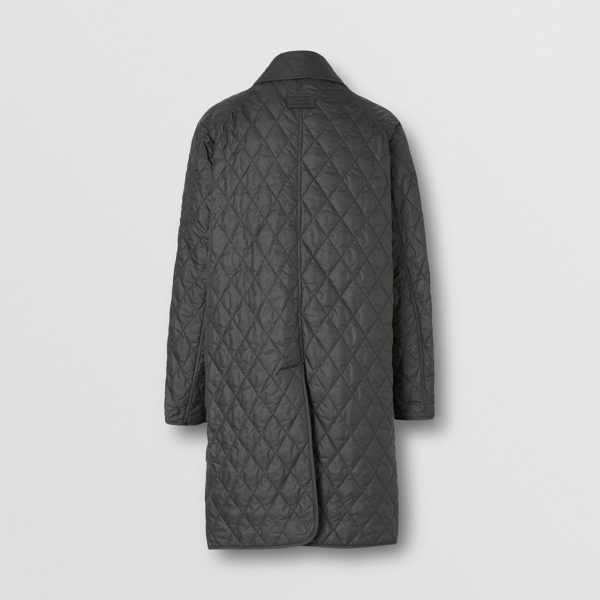 Diamond Quilted Double-breasted Coat in Black - Women | Burberry United Kingdom - gallery image 7