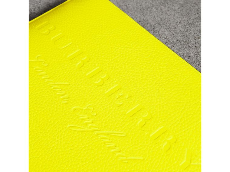 Embossed Leather Document Case in Neon Yellow - Men | Burberry - cell image 1
