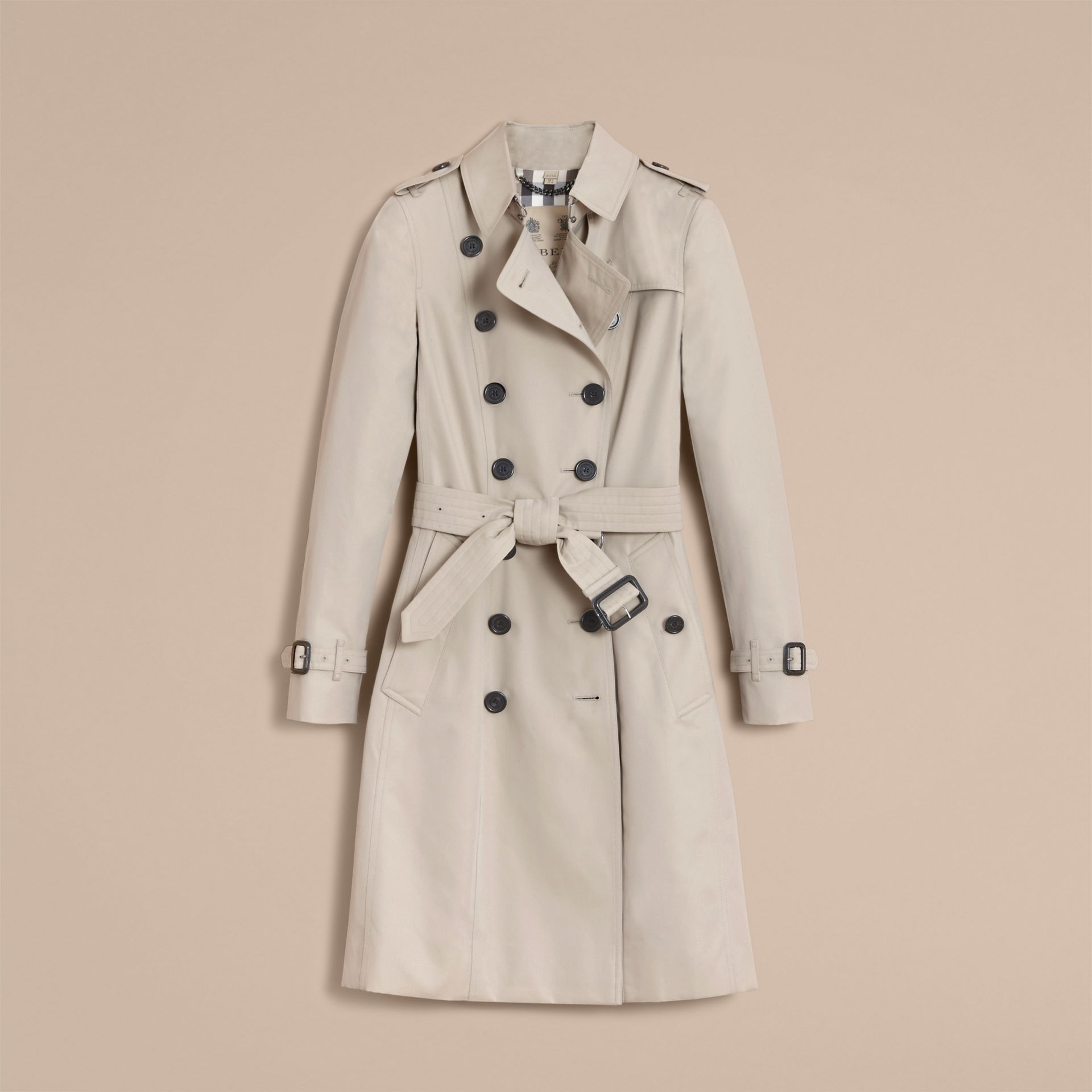 The Chelsea – Long Heritage Trench Coat in Stone - gallery image 4