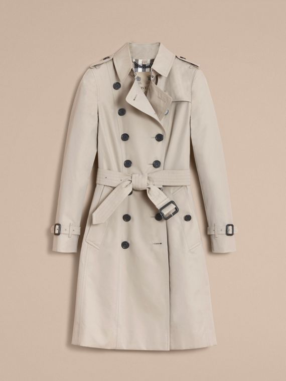 The Chelsea – Long Heritage Trench Coat in Stone - cell image 3