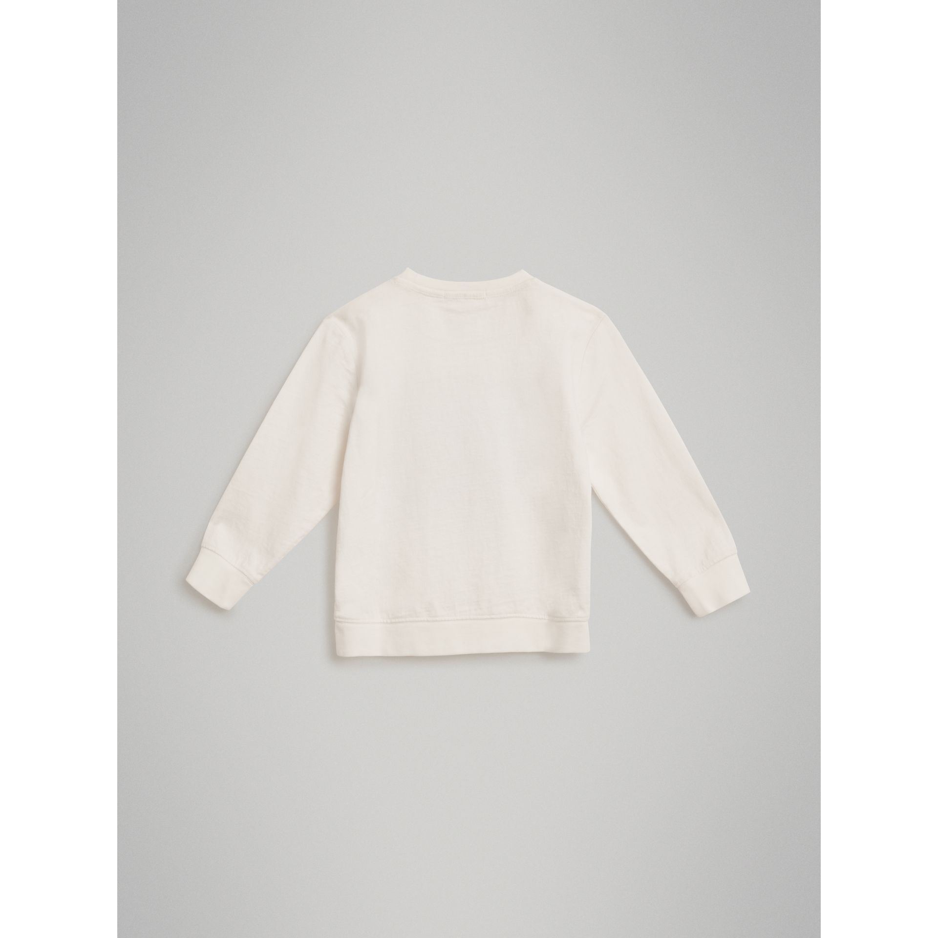 Sweat-shirt en coton avec logo d'archive (Blanc) | Burberry - photo de la galerie 3