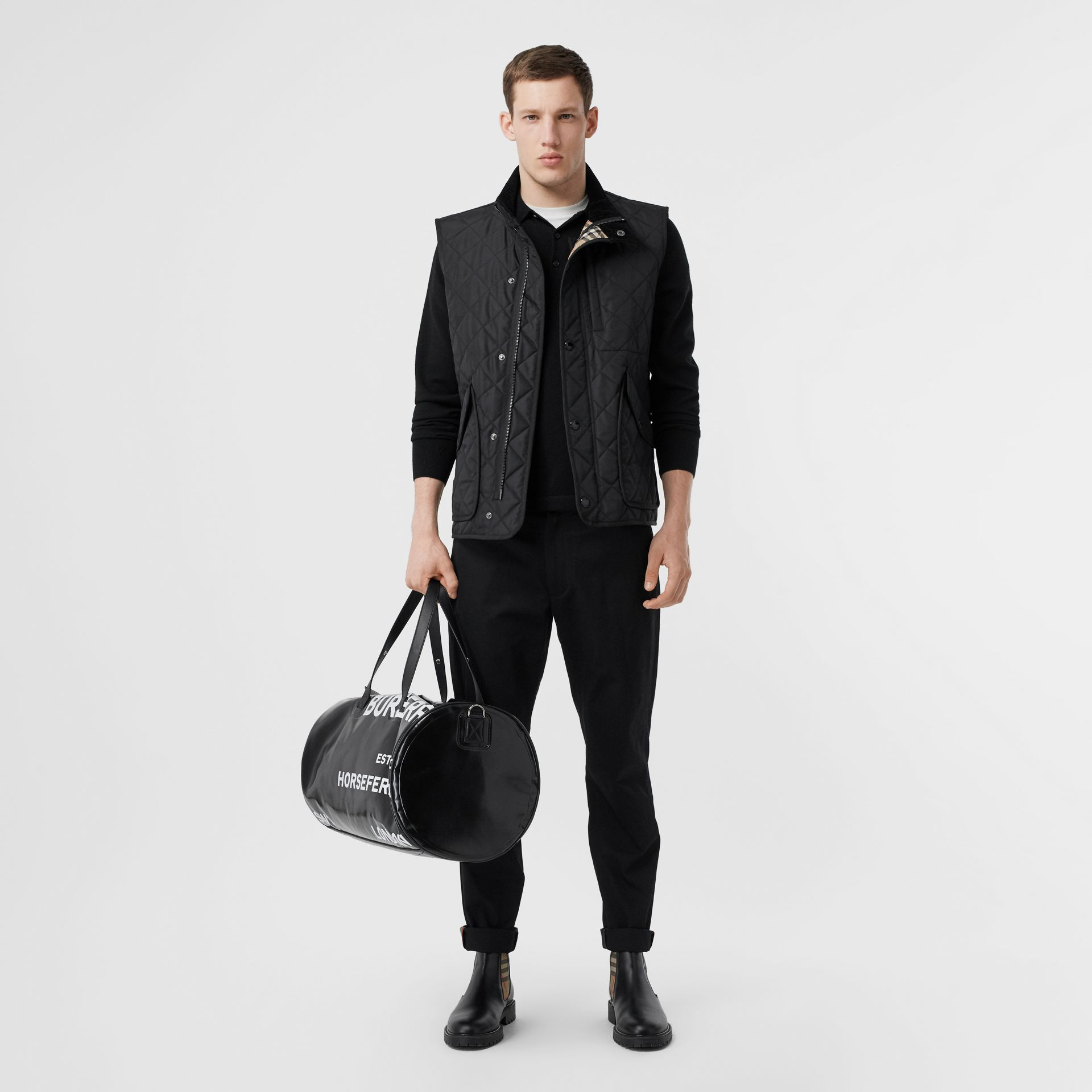 Diamond Quilted Thermoregulated Gilet in Black - Men | Burberry - gallery image 0