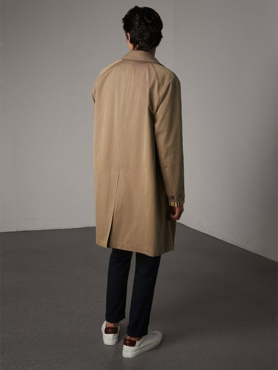 The Camden – Long Car Coat in Taupe Brown - Men | Burberry - cell image 2
