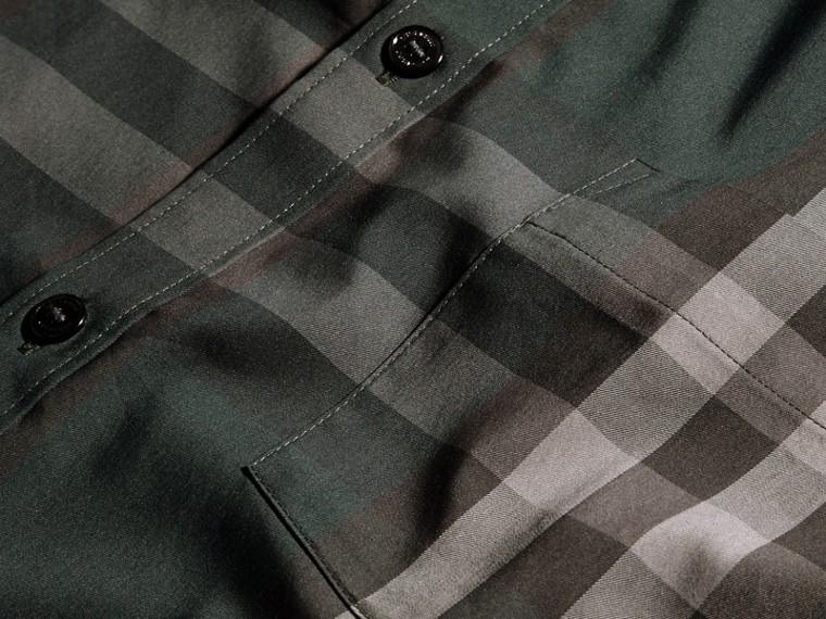 Verdone Camicia in cotone stretch con motivo check Verdone - cell image 1