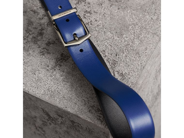 Reversible London Leather Belt in Deep Blue/black - Men | Burberry Australia - cell image 2