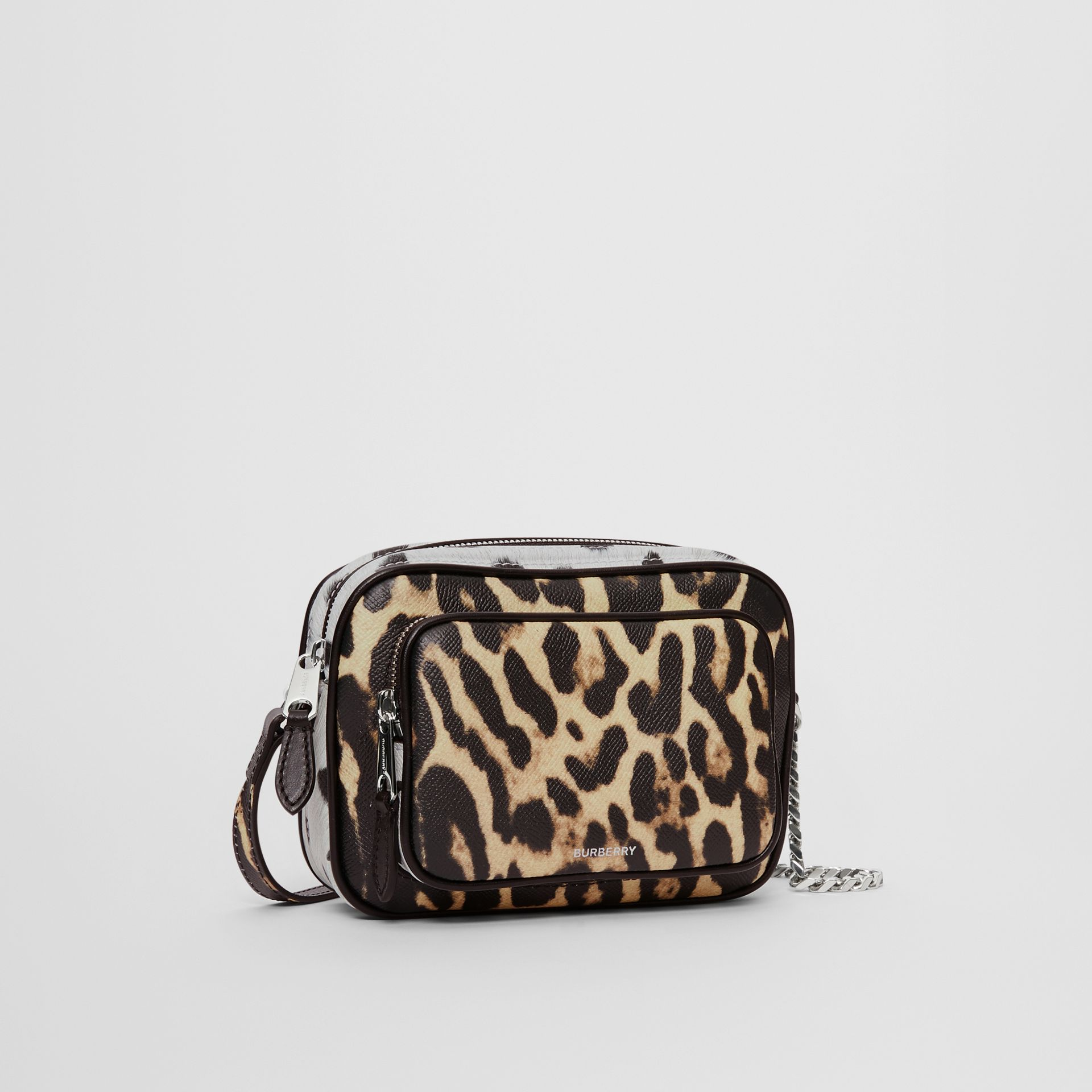 Animal Print Leather Camera Bag in Honey/black - Women | Burberry United Kingdom - gallery image 5