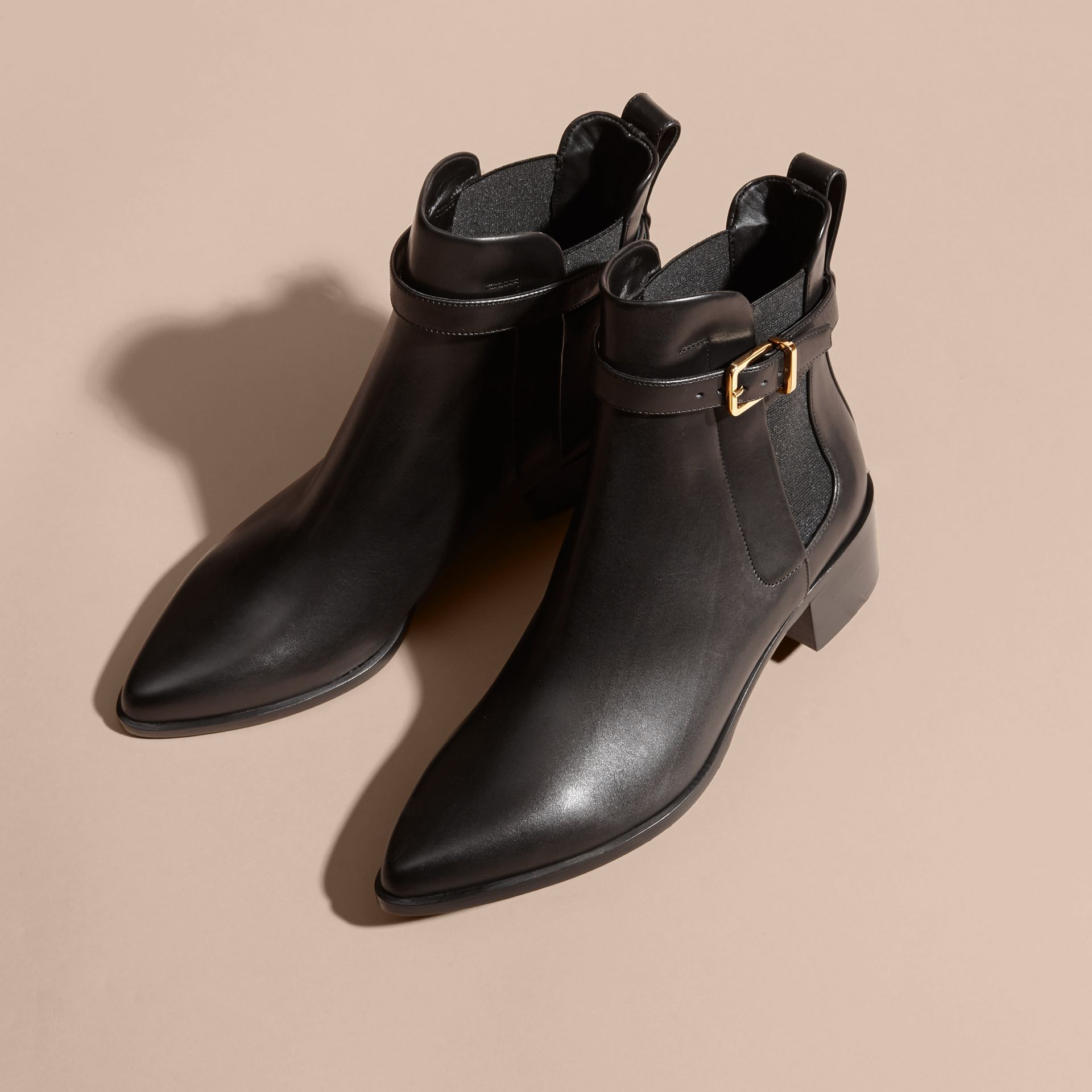Buckle Detail Leather Chelsea Boots - gallery image 3