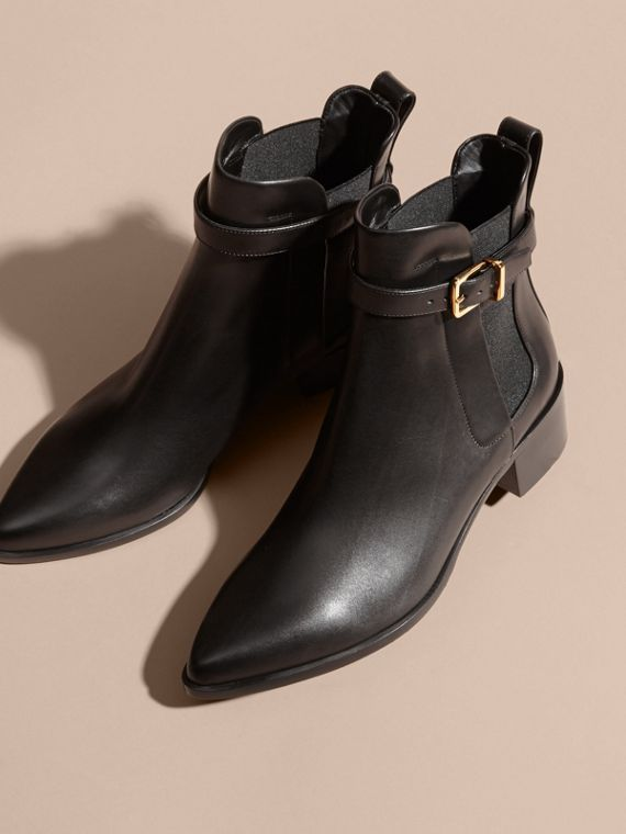 Buckle Detail Leather Chelsea Boots - cell image 2