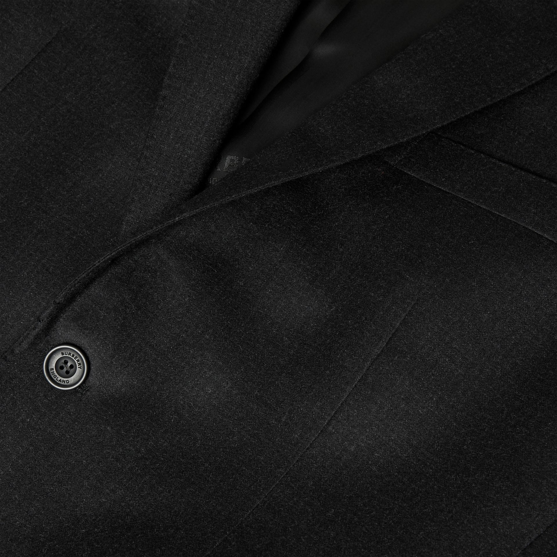 Classic Fit Wool Flannel Tailored Jacket in Black - Men | Burberry - gallery image 5