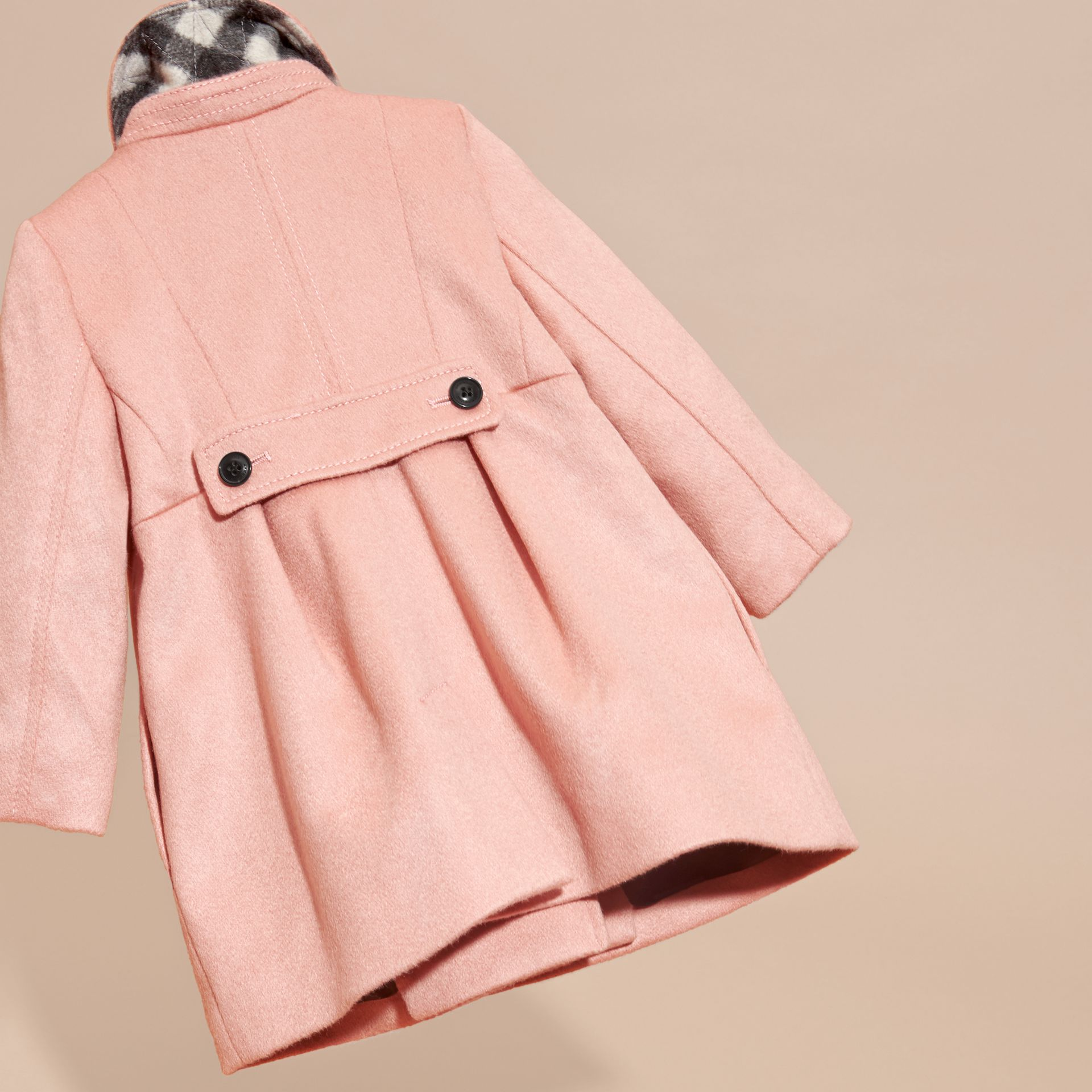 Chalk pink Tailored Cashmere Coat Chalk Pink - gallery image 4