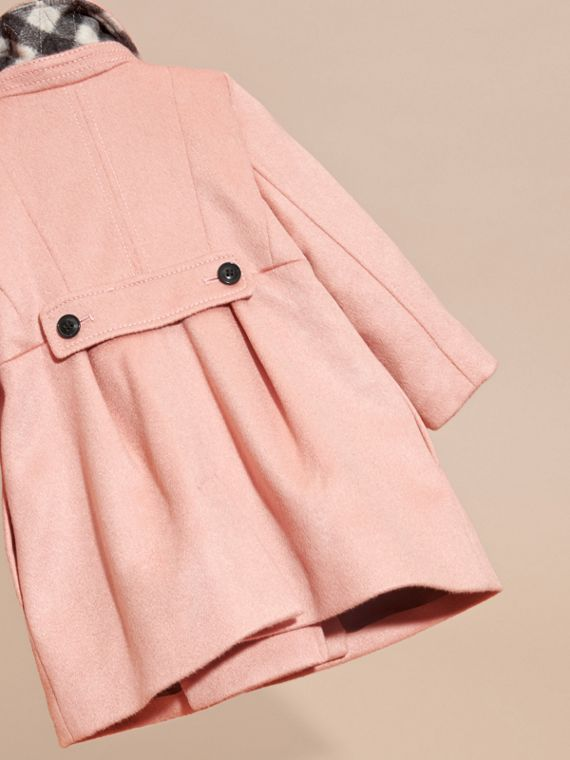 Tailored Cashmere Coat in Chalk Pink - cell image 3
