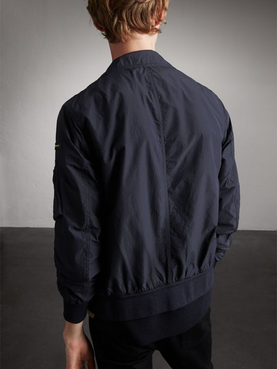 Seersucker Bomber Jacket - Men | Burberry Australia - cell image 2