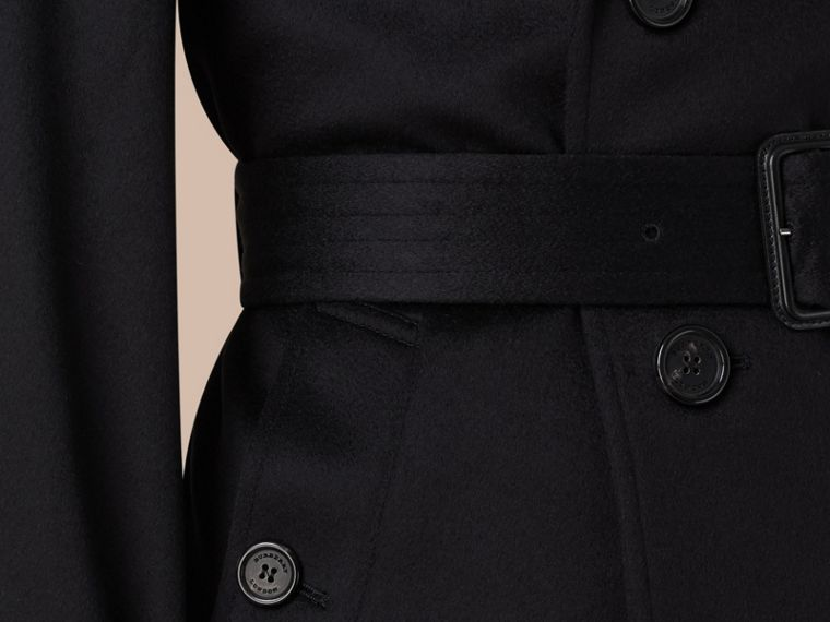 Navy Cashmere Trench Coat - cell image 1