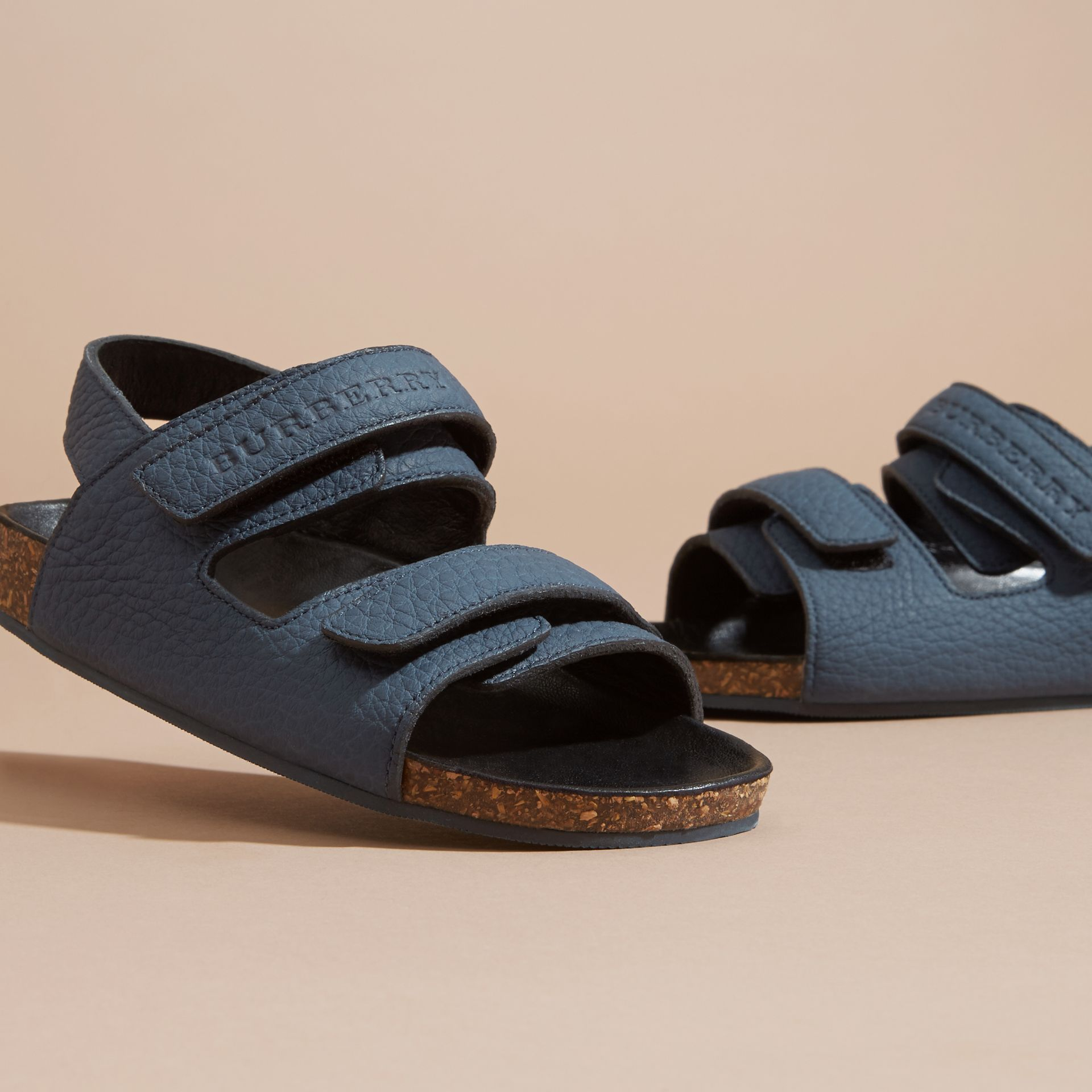 Cork Sole Leather Sandals - gallery image 3