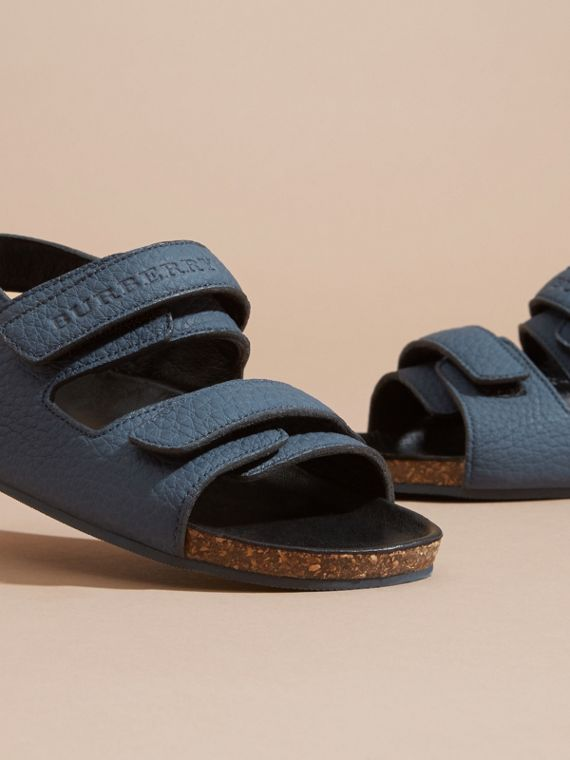 Cork Sole Leather Sandals - cell image 2
