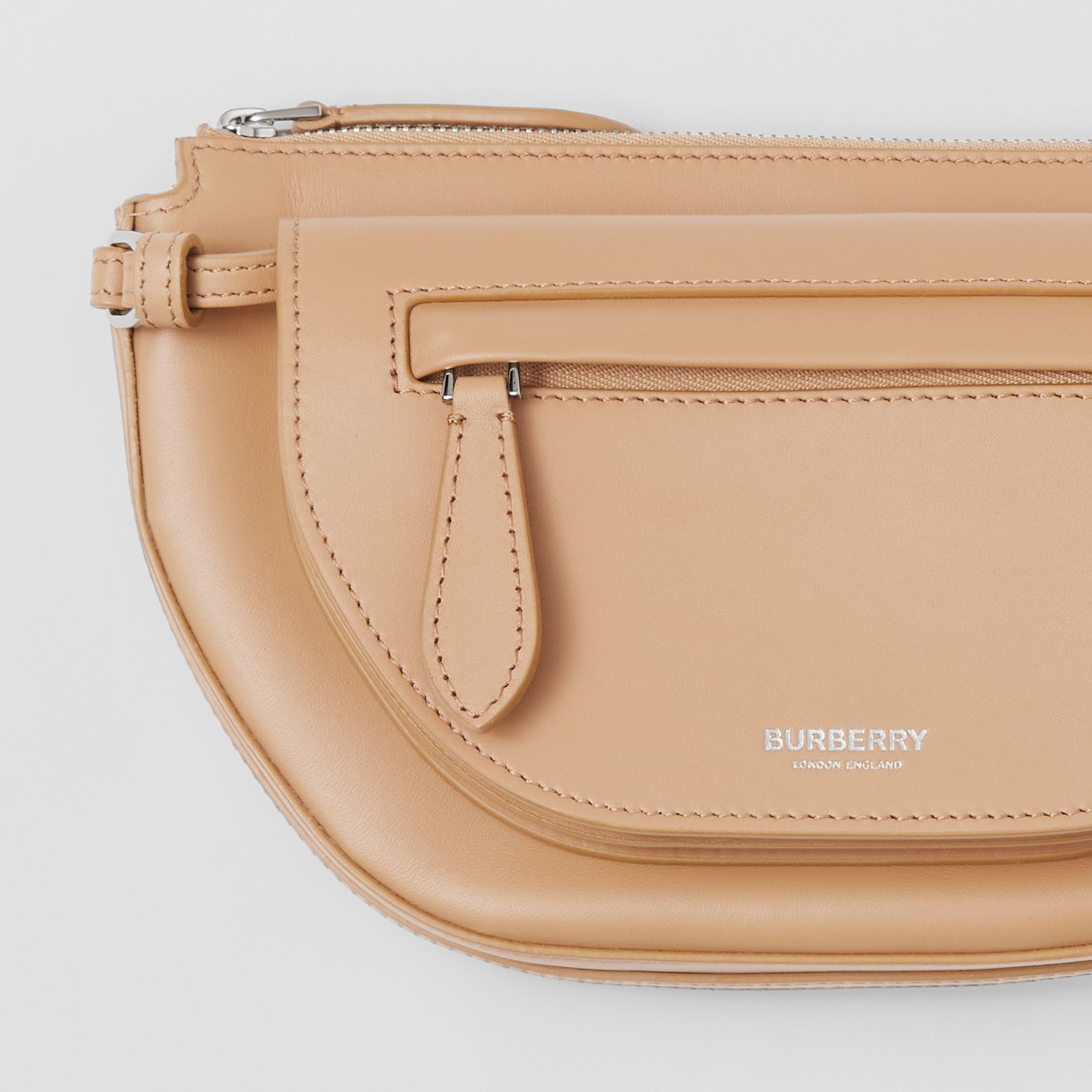 Mini Leather Double Olympia Bag in Warm Sand - Women | Burberry - 2