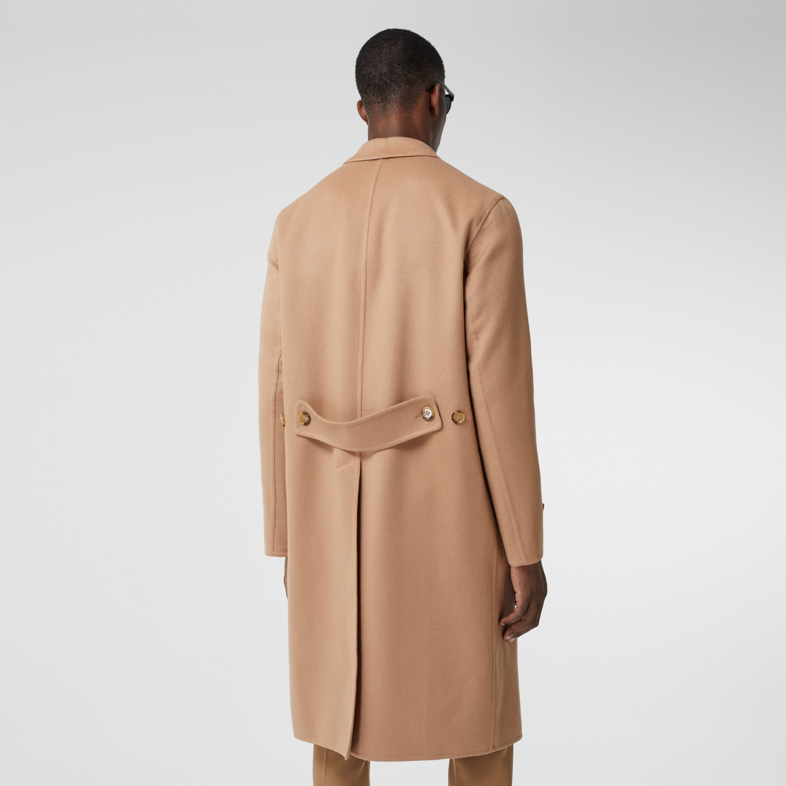 Double-faced Regenerated Cashmere Lab Coat in Camel - Men | Burberry - 3