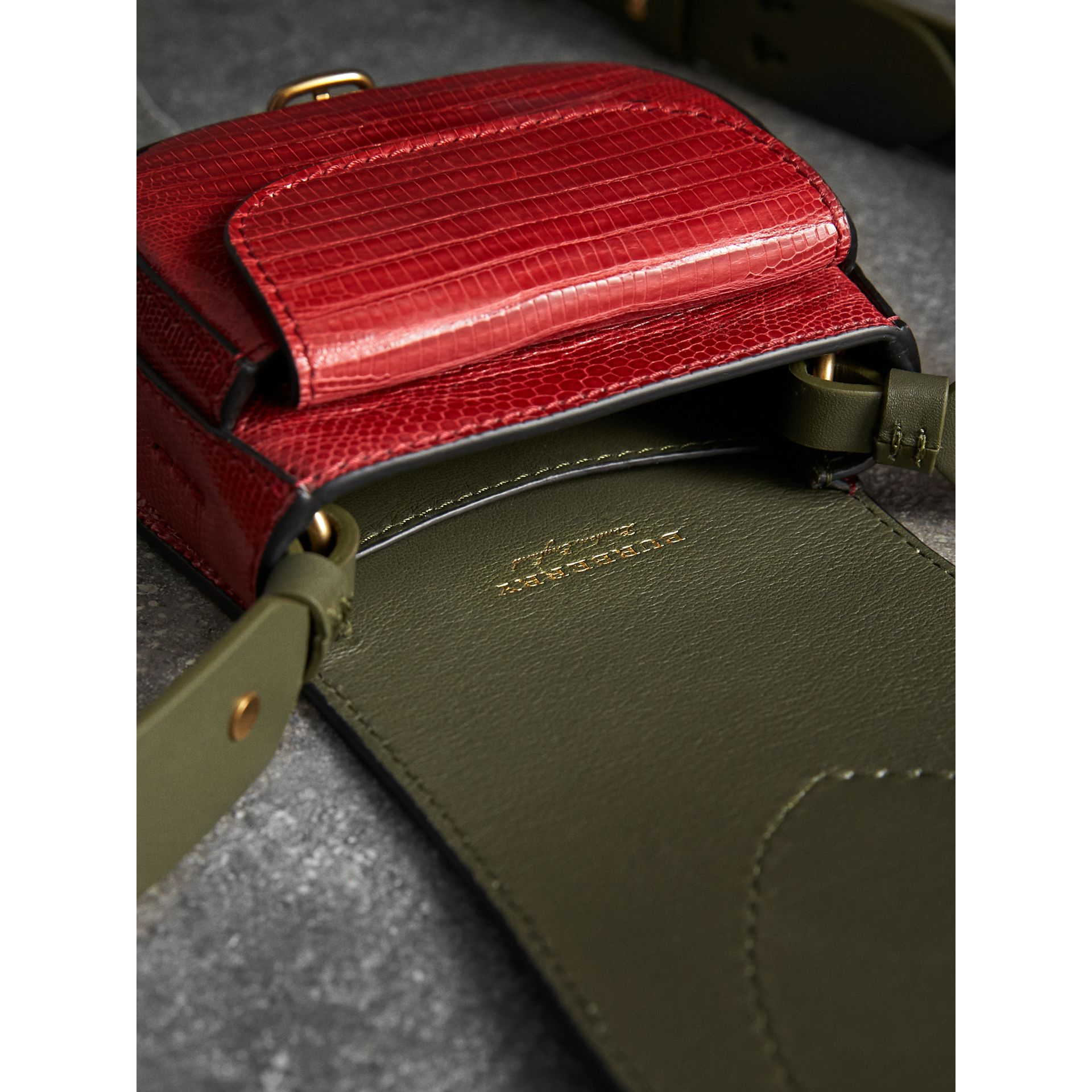 The Pocket Satchel in Lizard in Clove Red - Women | Burberry United Kingdom - gallery image 4