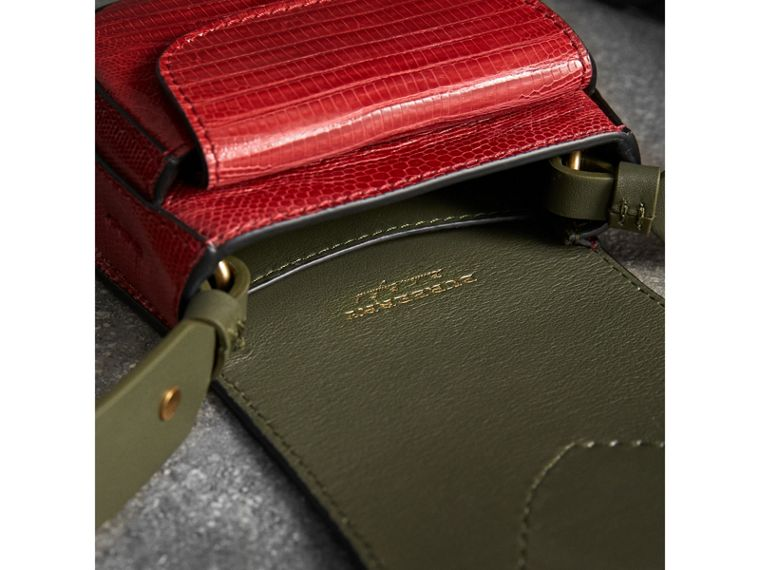 The Pocket Satchel in Lizard in Clove Red - Women | Burberry - cell image 4