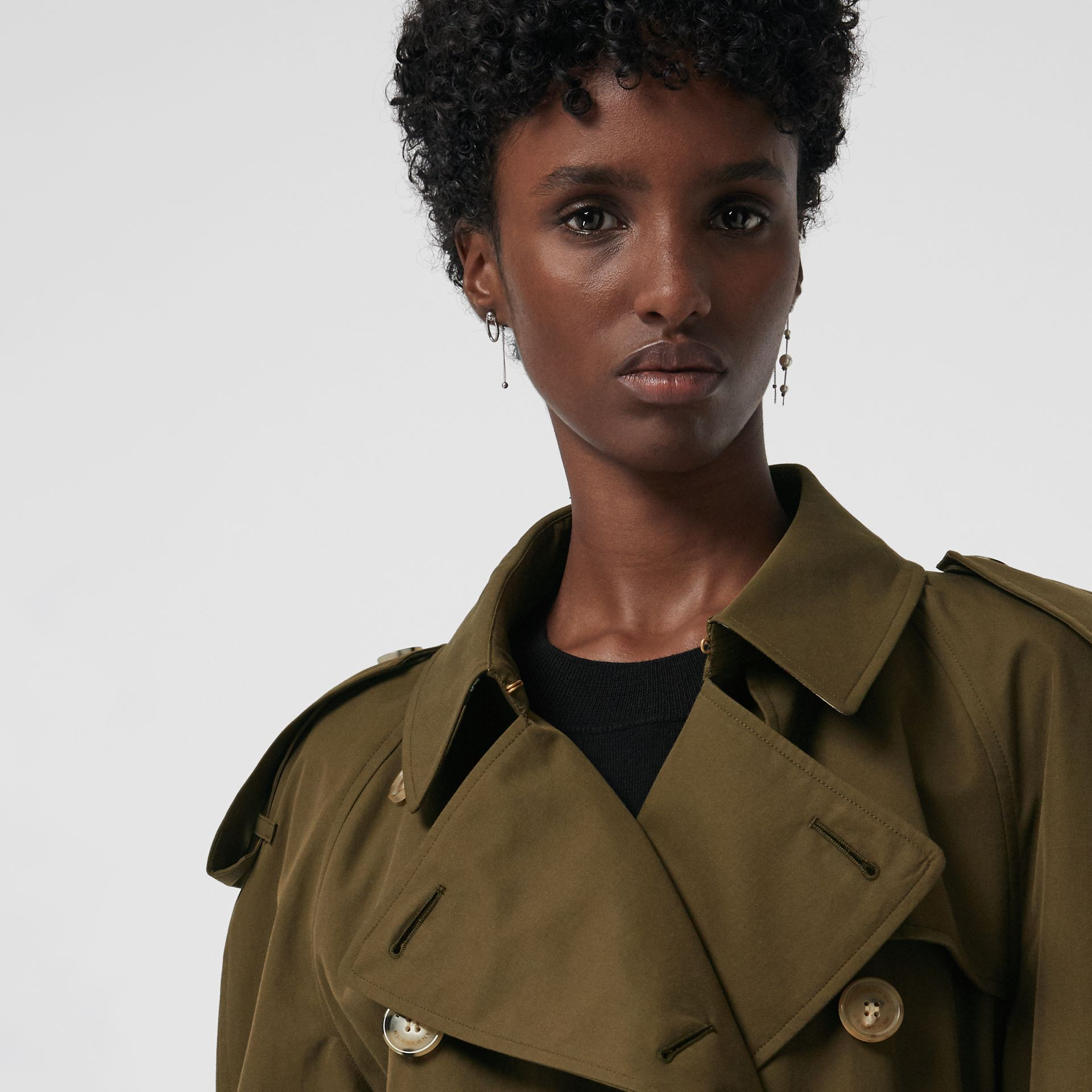 The Westminster Heritage Trench Coat in Dark Military Khaki - Women | Burberry Singapore - gallery image 1