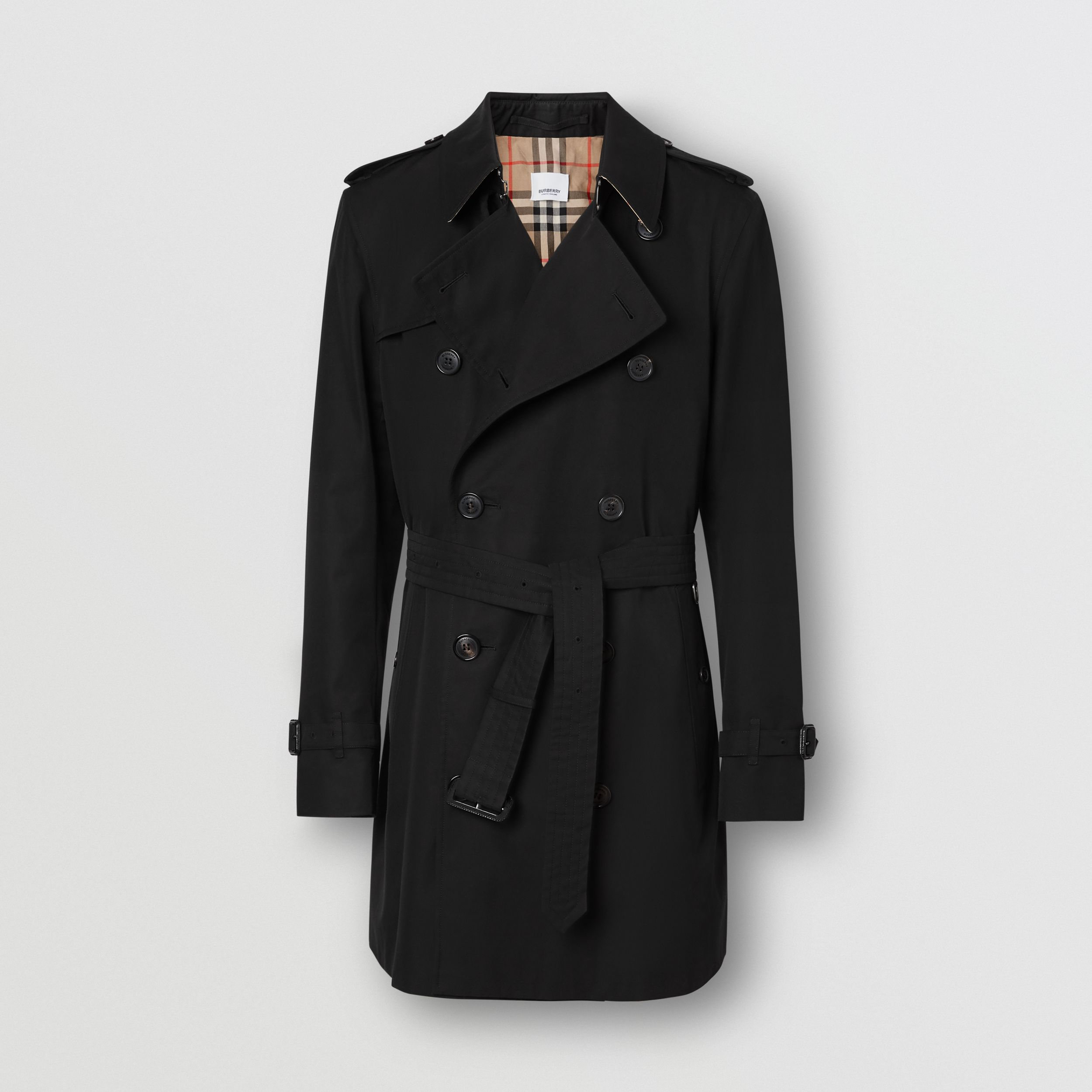The Short Wimbledon Trench Coat in Black - Men | Burberry Hong Kong S.A.R. - 4