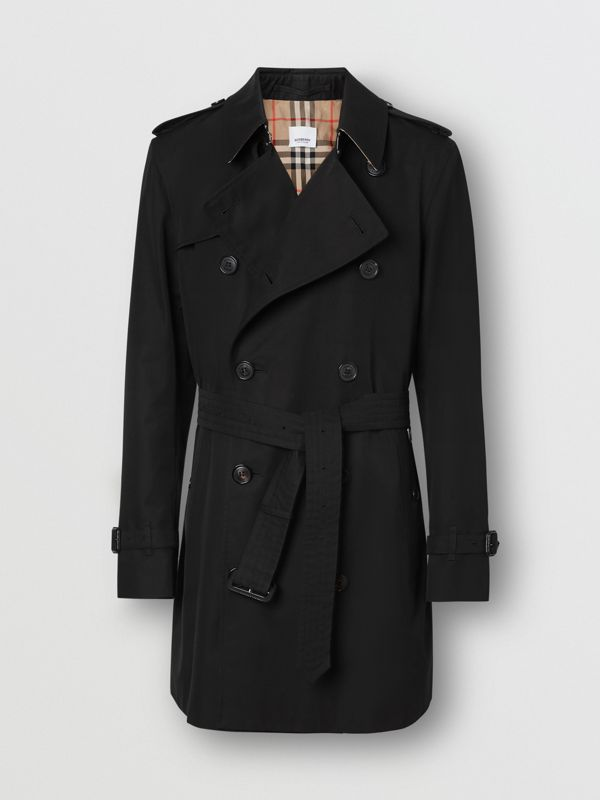 Cotton Gabardine Trench Coat in Black - Men | Burberry - cell image 3