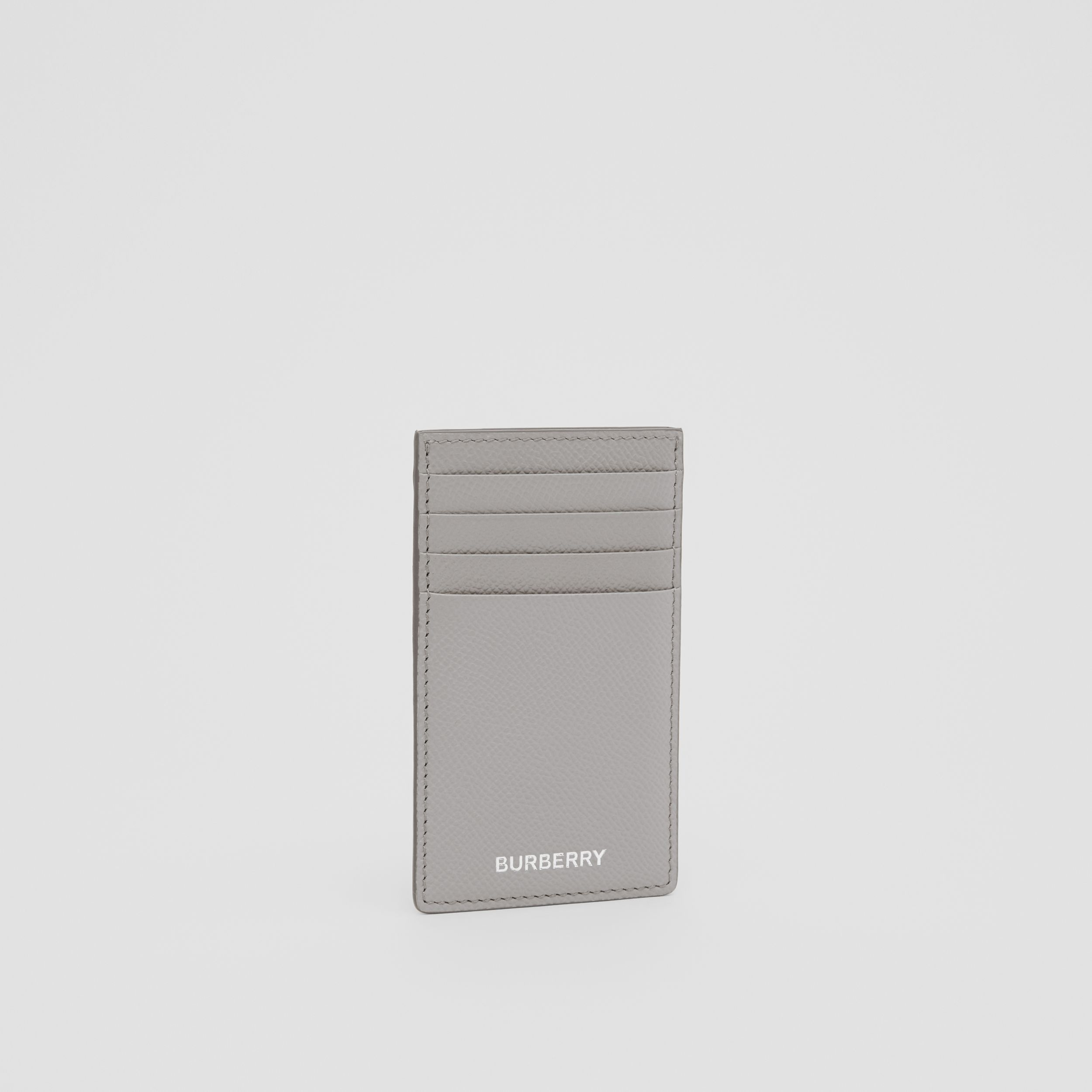 Grainy Leather Card Case in Cloud Grey - Men | Burberry - 4