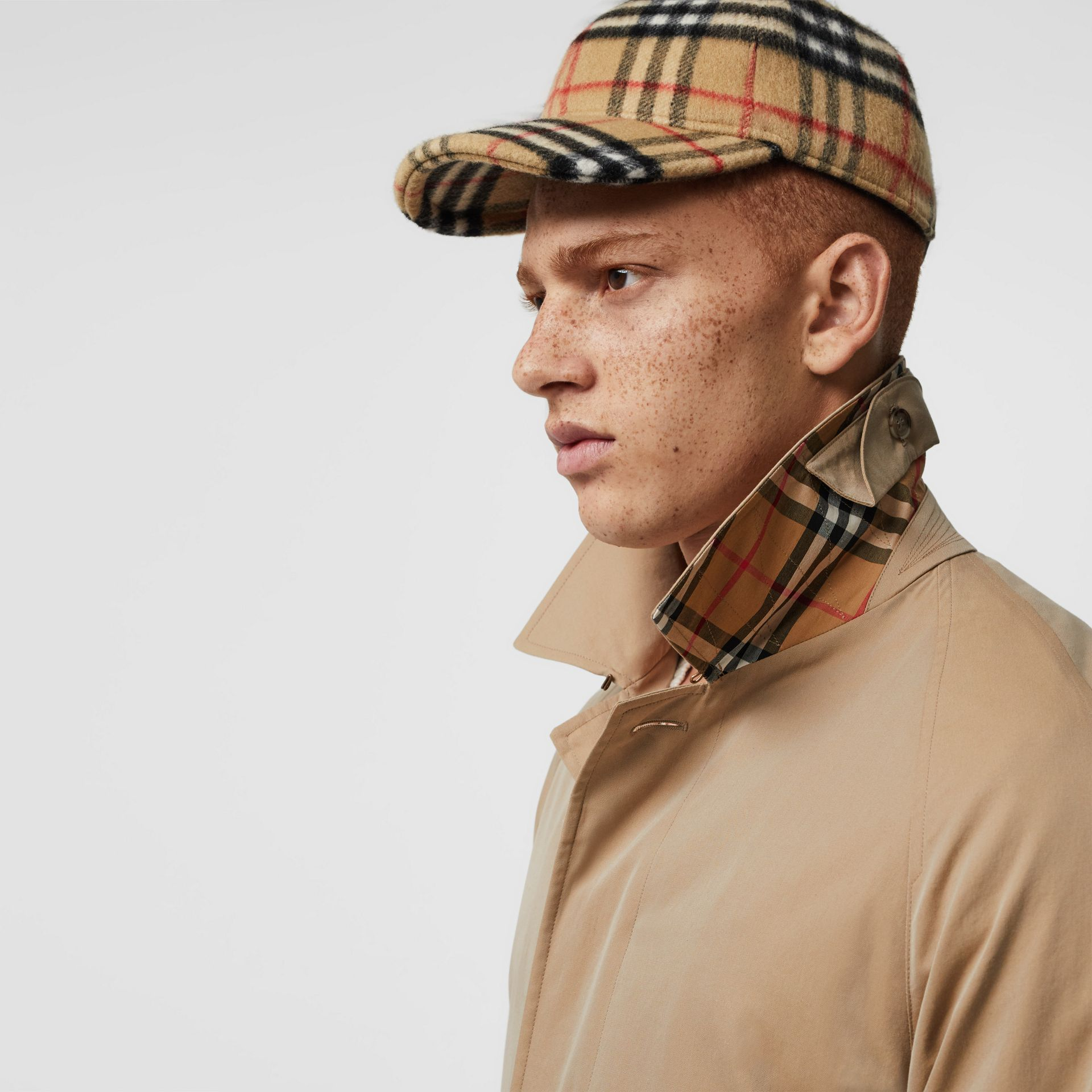 The Camden Car Coat in Honey - Men | Burberry Singapore - gallery image 4
