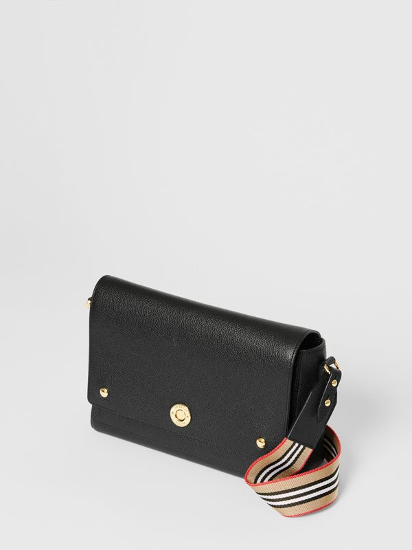 Grainy Leather Note Crossbody Bag in Black - Women | Burberry - cell image 3