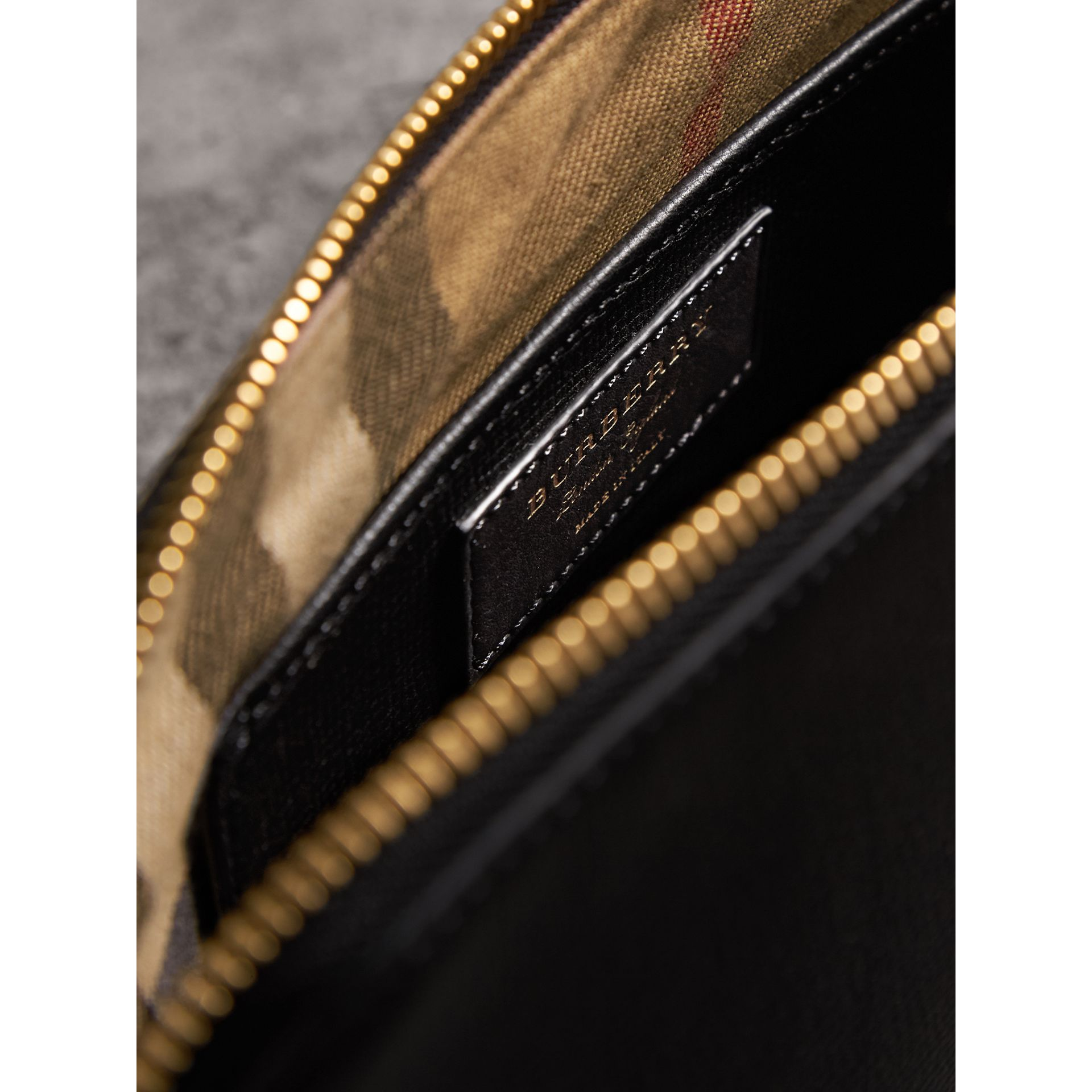Grainy Leather Clutch Bag in Black - Women | Burberry Canada - gallery image 6