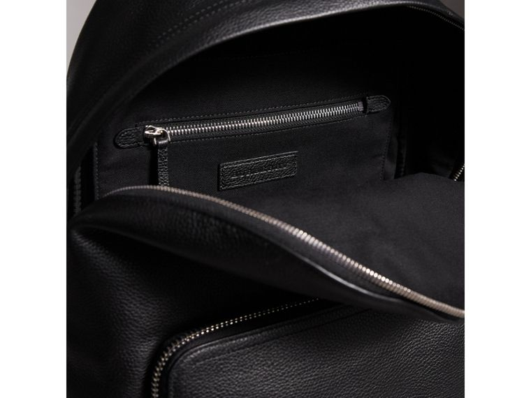 Grainy Leather Backpack in Black - Men | Burberry - cell image 4