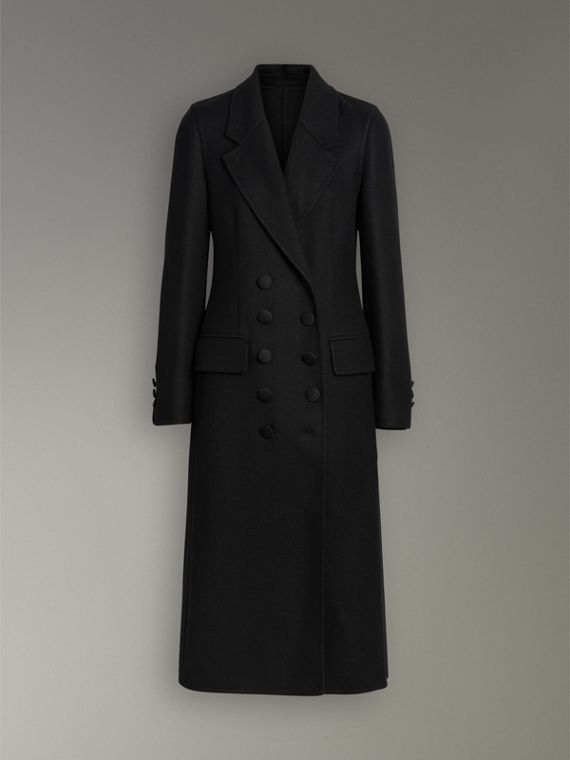 Double-breasted Cashmere Tailored Coat in Black - Women | Burberry Australia - cell image 3
