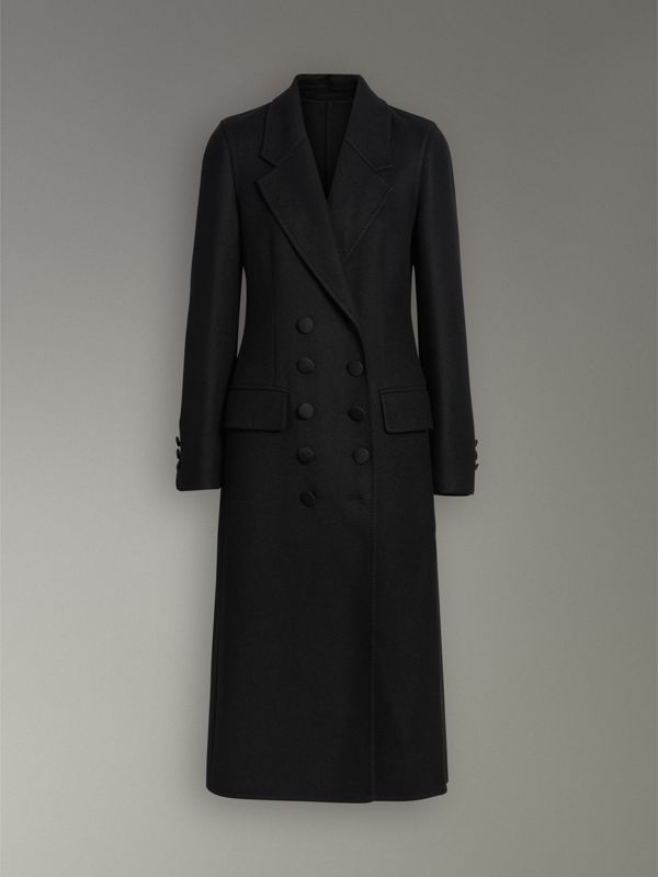 Double-breasted Cashmere Tailored Coat in Black - Women | Burberry United Kingdom - cell image 3