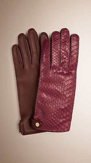 Python and Lambskin Gloves