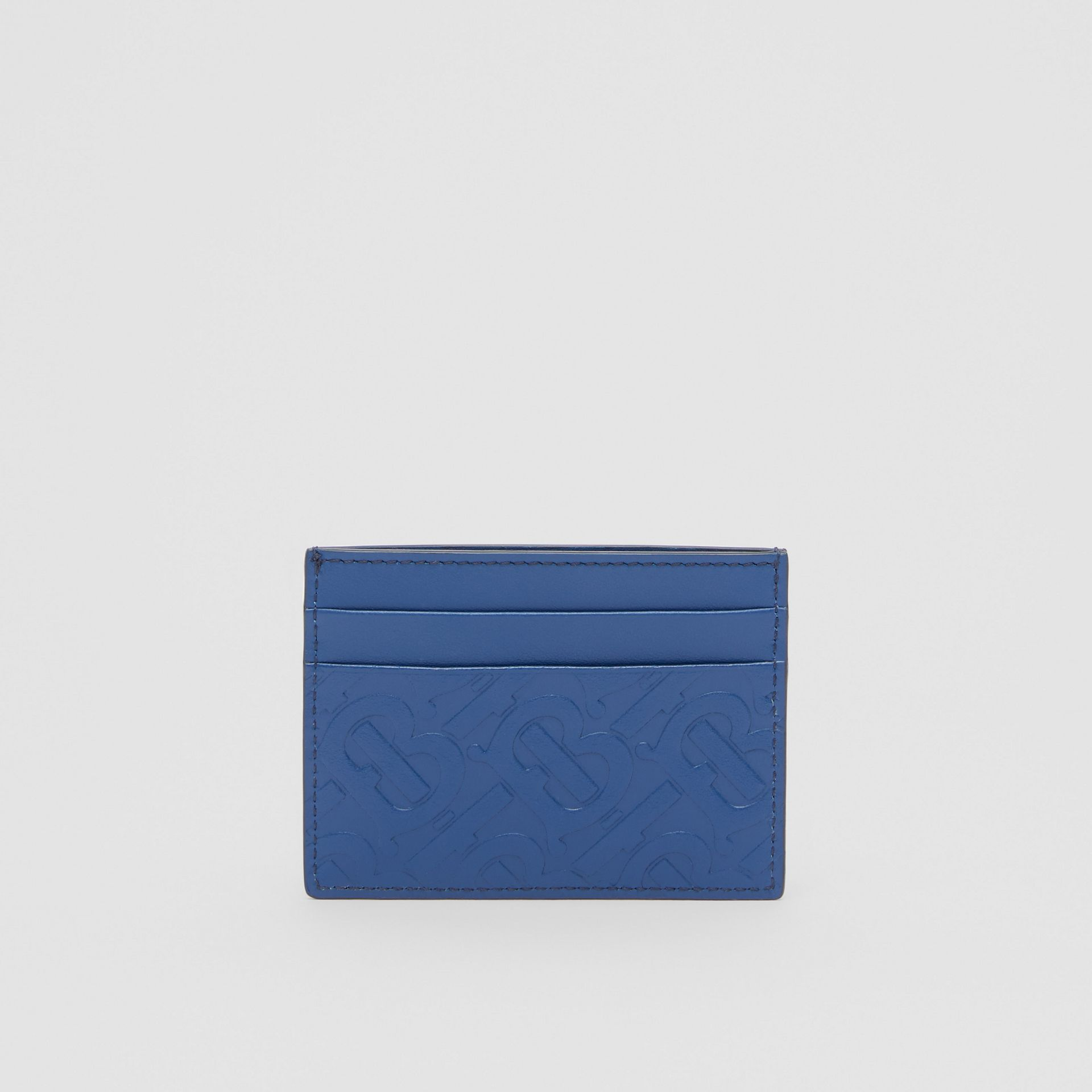 Monogram Leather Card Case in Pale Canvas Blue - Men | Burberry United States - gallery image 4