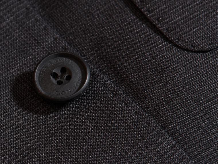 Charcoal Modern Fit Check Wool Part-canvas Suit Charcoal - cell image 1