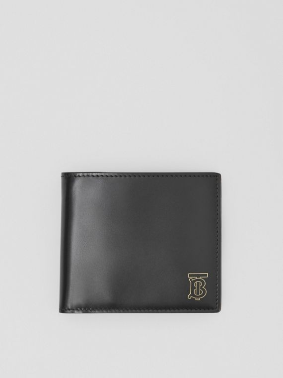 Monogram Motif Leather International Bifold Wallet in Black