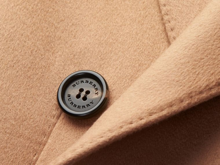 Camel Double-breasted Tailored Cashmere Coat - cell image 1
