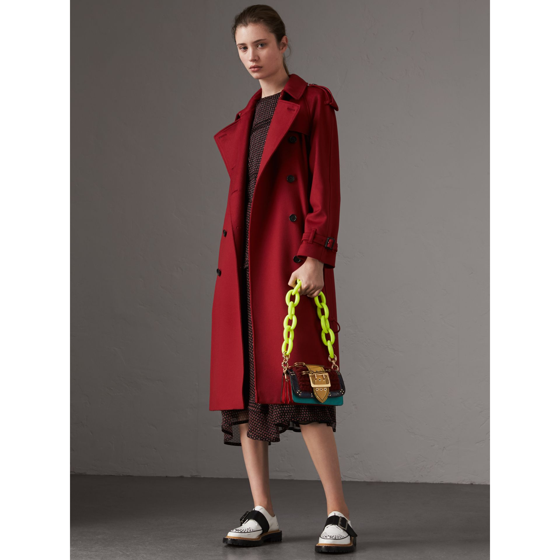 Cashmere Trench Coat in Parade Red - Women | Burberry - gallery image 0