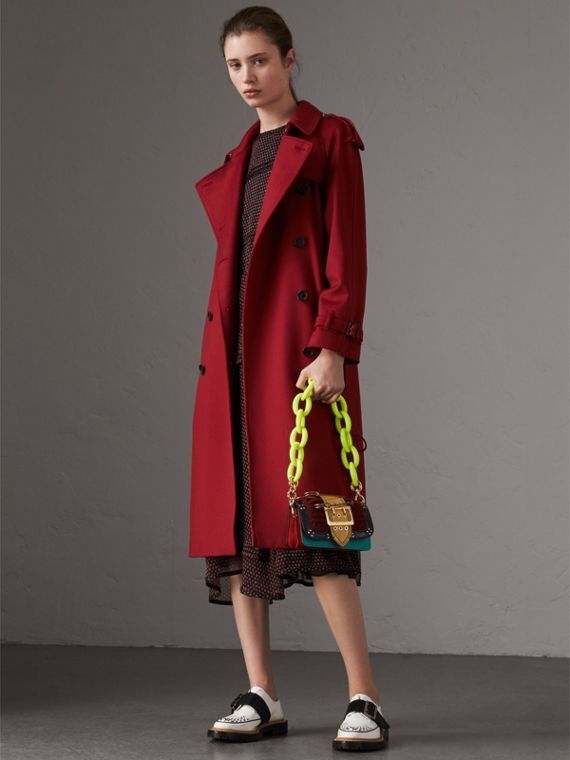 Cashmere Trench Coat in Parade Red