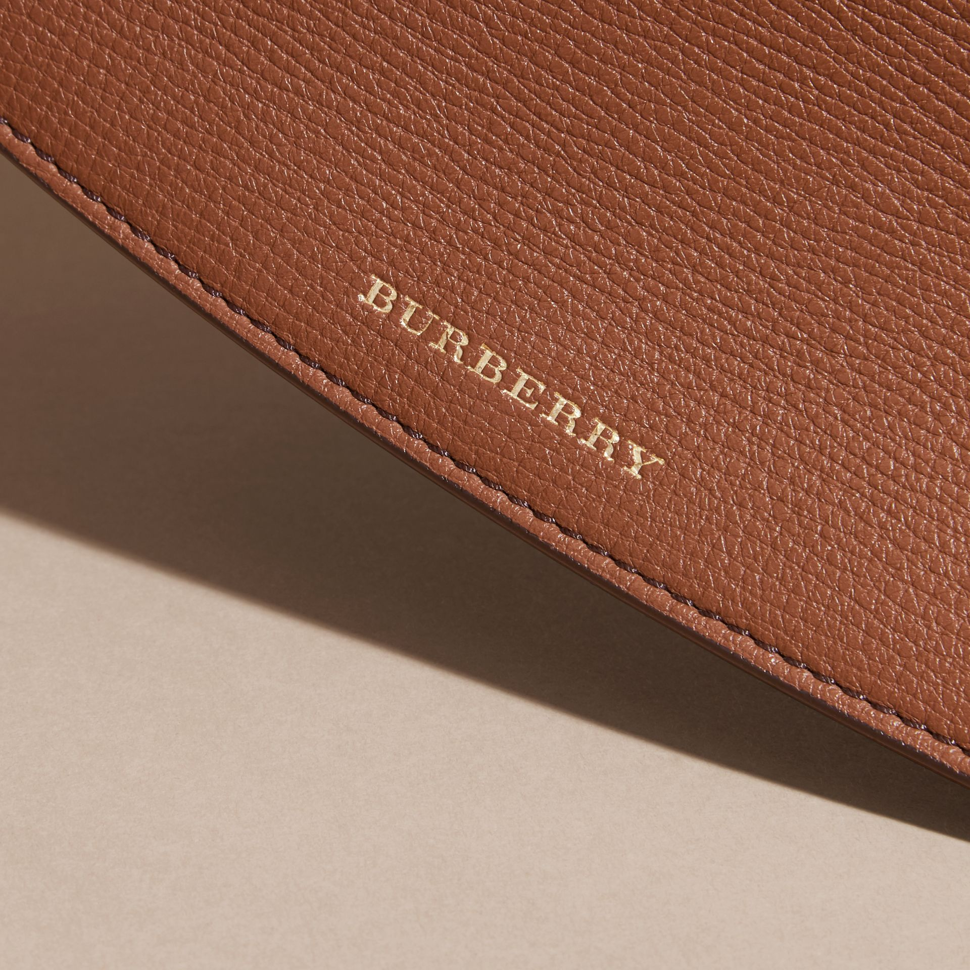 House Check And Leather Continental Wallet in Tan - Women | Burberry - gallery image 4