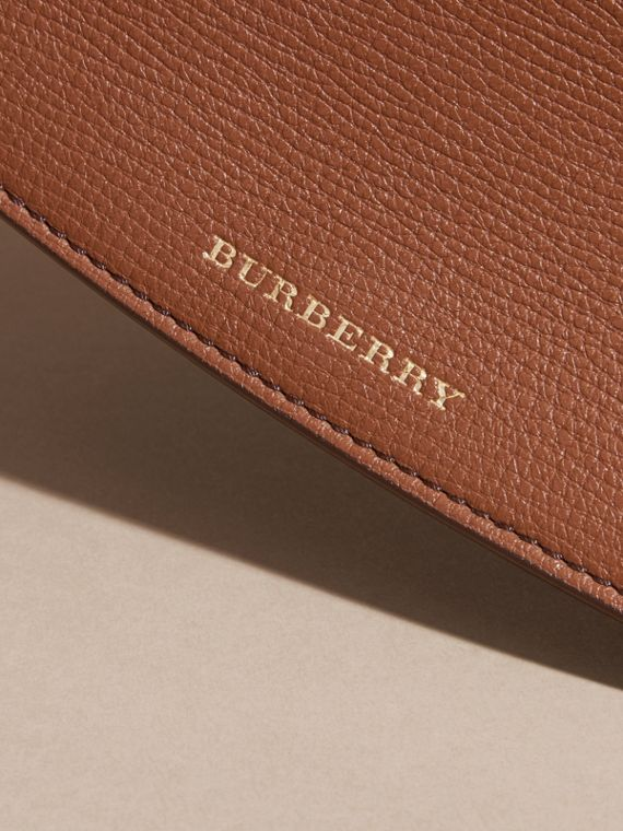 House Check And Leather Continental Wallet in Tan - Women | Burberry - cell image 3