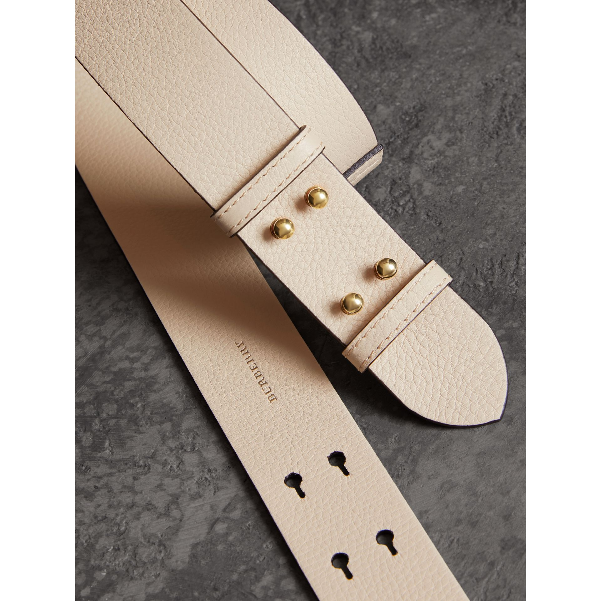 The Medium Belt Bag Grainy Leather Belt in Limestone - Women | Burberry - gallery image 1