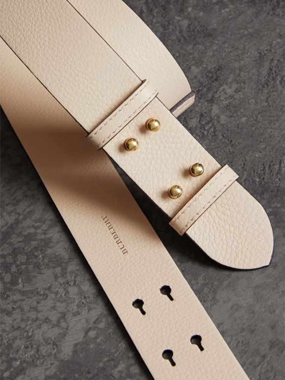The Medium Belt Bag Grainy Leather Belt in Limestone - Women | Burberry Hong Kong - cell image 1
