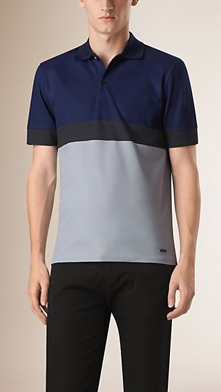 Polo color-block en coton
