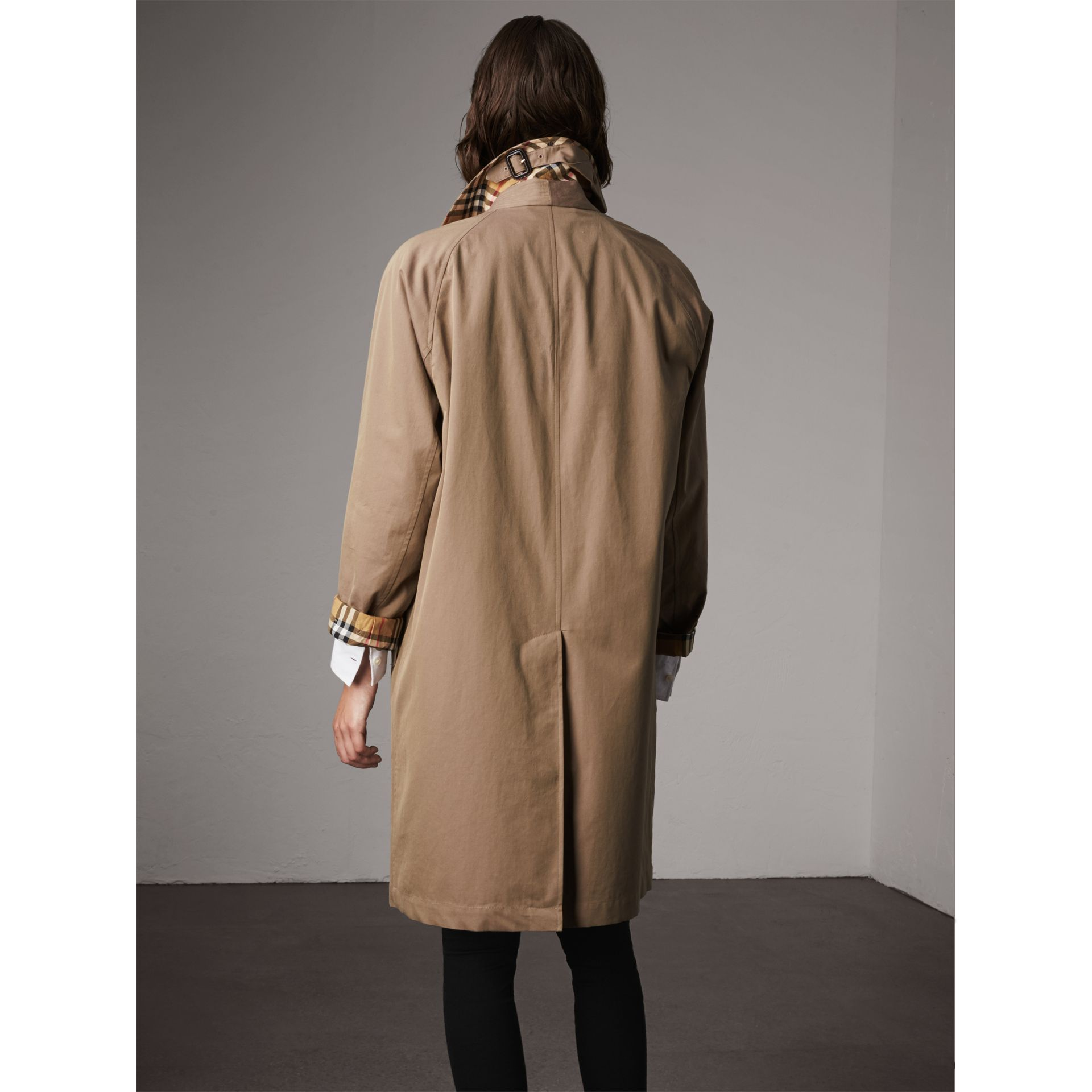 The Camden – Long Car Coat in Taupe Brown - Women | Burberry - gallery image 3